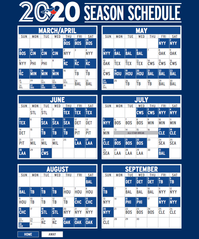 image relating to Printable Brewers Schedule called Highlights against the Blue Jays 2020 timetable make clear Offside