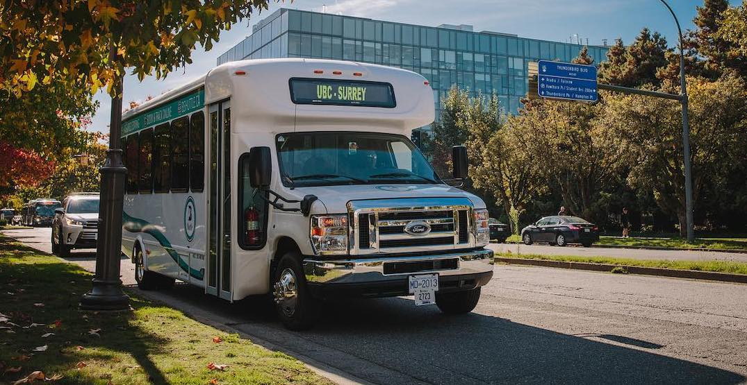 UBC to Surrey private express shuttle service quietly shuts down