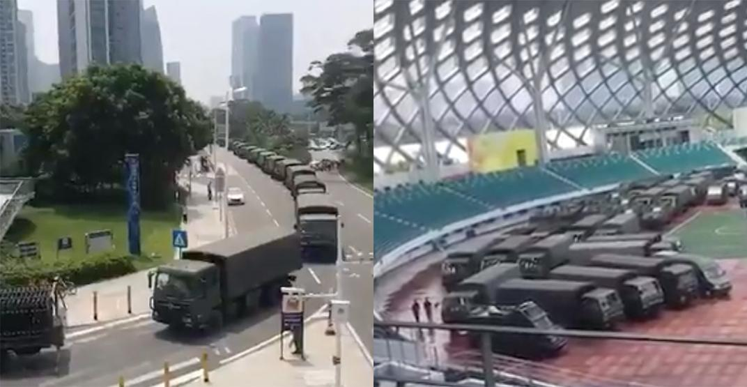 Chinese army mobilized to the border of Hong Kong as unrest escalates