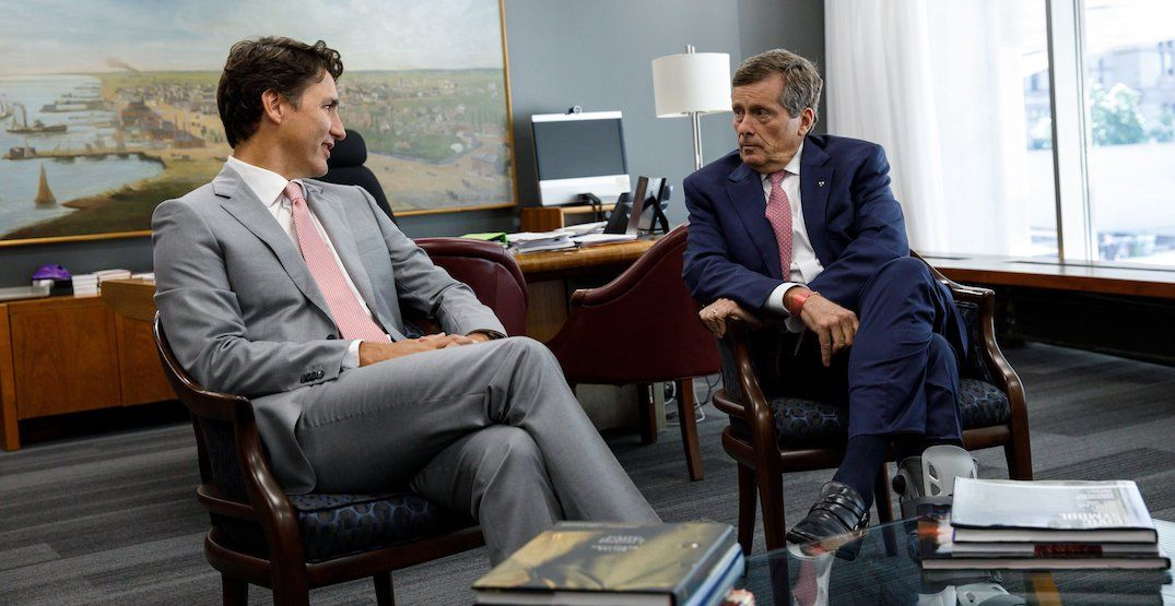 John Tory met with Trudeau at city hall to discuss Toronto's spike in gun violence