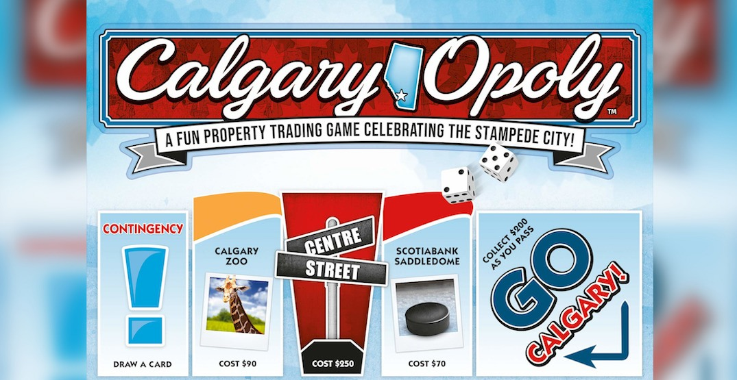 Someone just created a Calgary-themed game of Monopoly