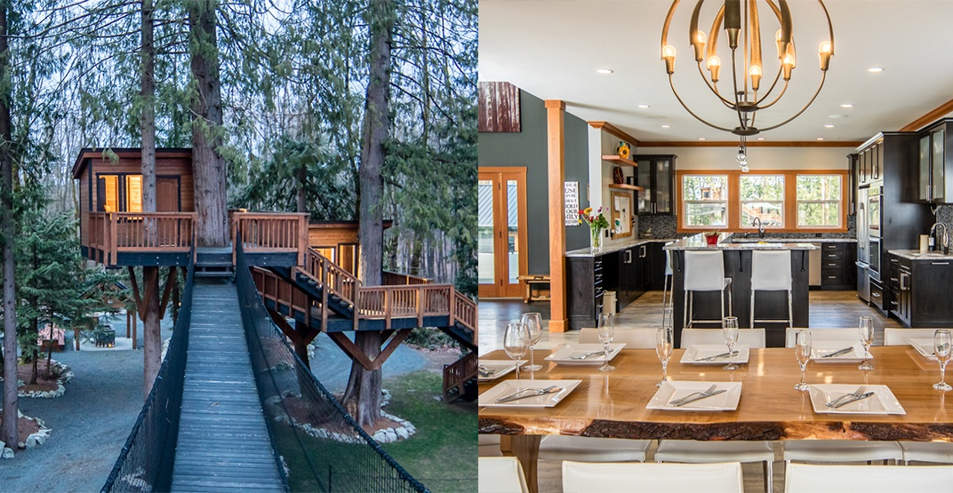 A look inside: BC mansion includes treehouses and suspension bridge (PHOTOS)