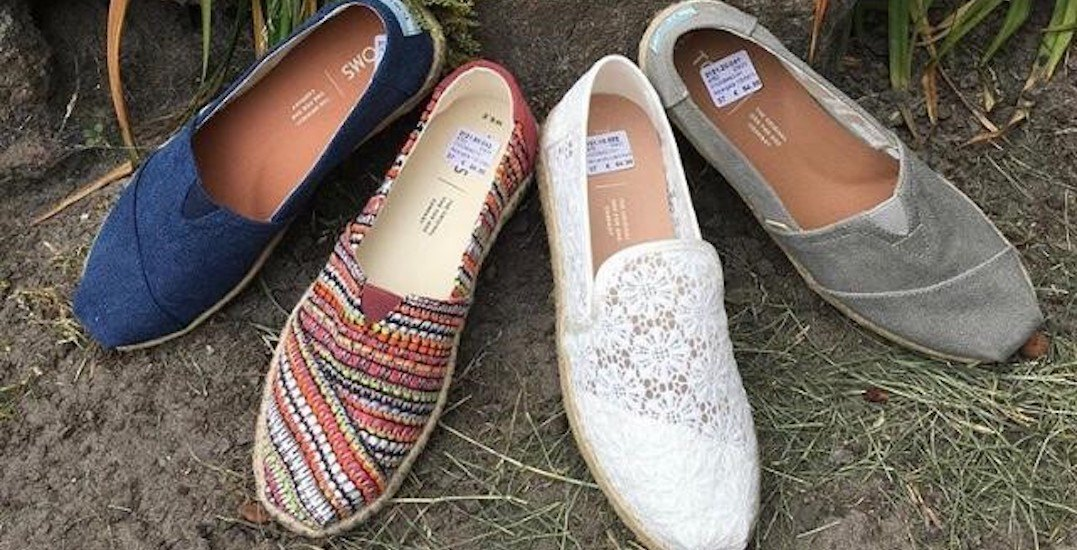 Save up to 70% at Calgary's huge TOMS warehouse sale