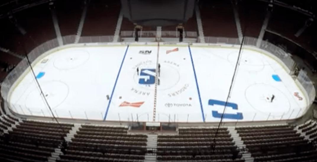 Canucks reveal new centre ice design for 50th anniversary season (VIDEO)