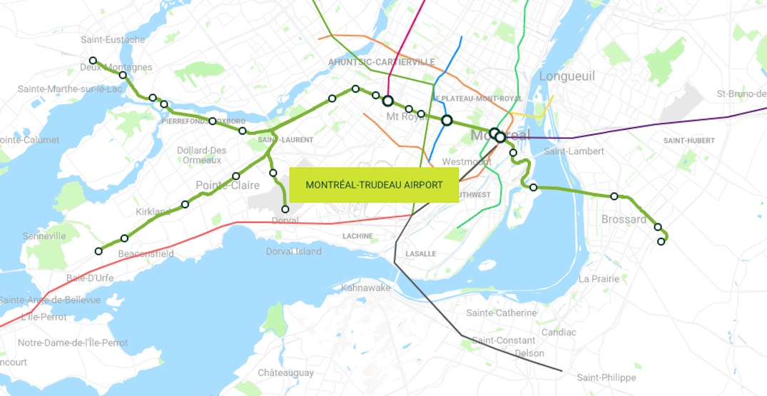 REM Montreal train network