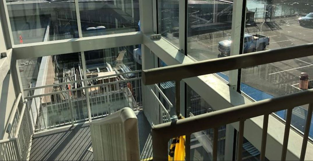 New permanent staircase to Waterfront Station's SeaBus terminal opens