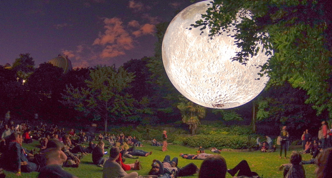 A massive fake moon is going to rise above The Bentway next week