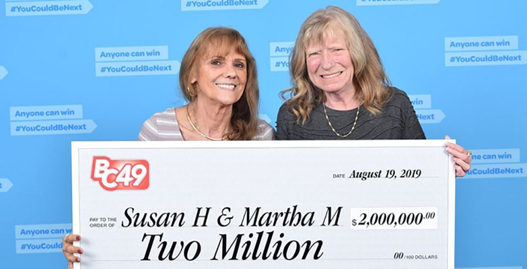 Best friends of more than 50 years just won $2 million BC lottery prize