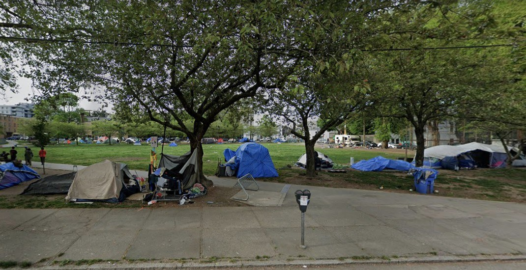 The City of Vancouver says homeless campers must leave Oppenheimer Park today