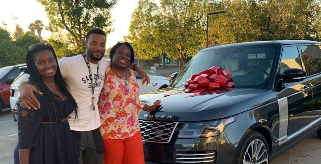 "Raptors' Norman Powell surprises his mom with her ""dream car"" (VIDEO)"