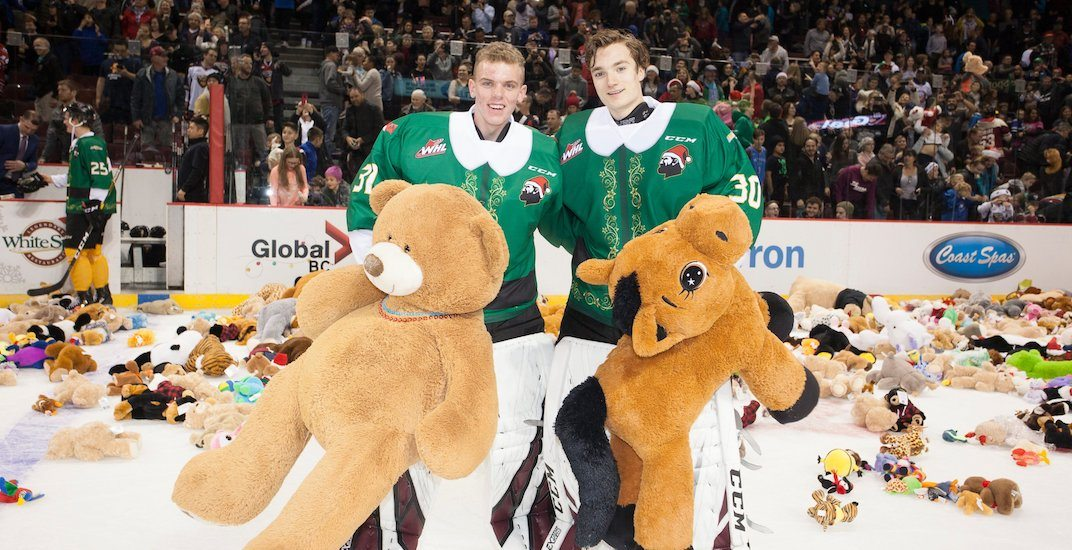 Vancouver Giants team up with Canucks for 2019 Teddy Bear Toss