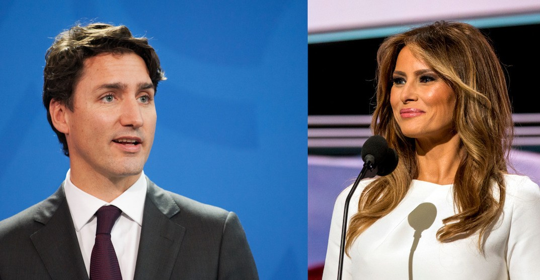 The Internet is having a field day with lusty pic of Trudeau and Melania Trump