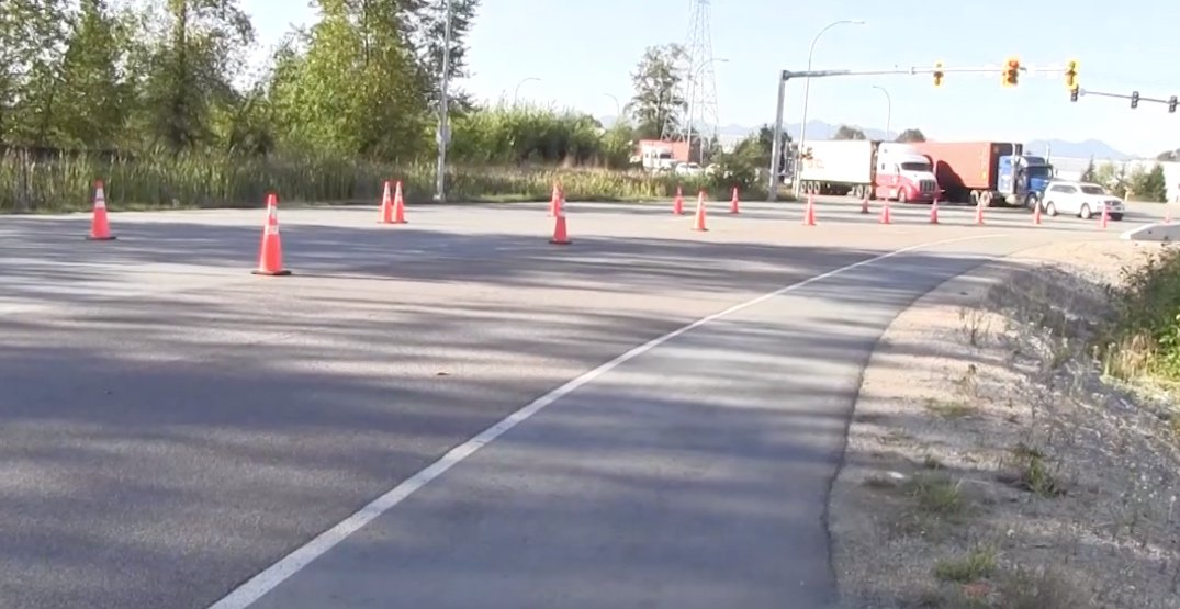 High-friction road surfaces created at 10 locations across Lower Mainland