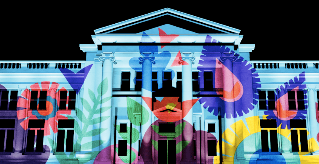The Vancouver Art Gallery will be lit up with giant artwork projections next month