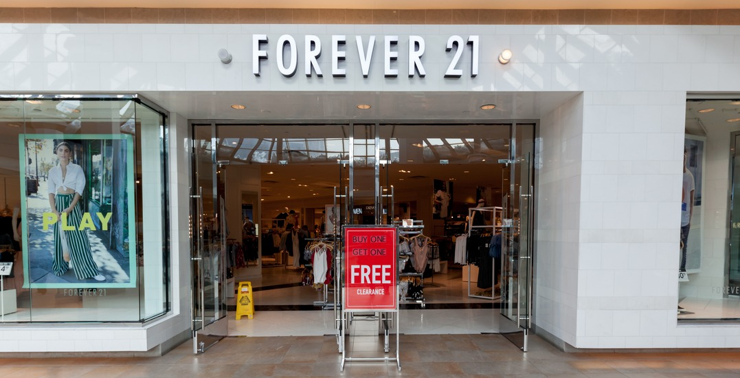 Forever 21 closing all Canadian stores following bankruptcy announcement