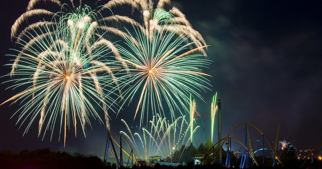 An epic fireworks display is happening just outside of Toronto this weekend