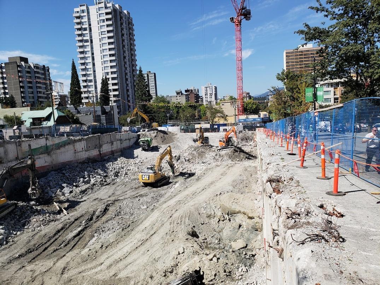 Empire Landmark Hotel Vancouver construction
