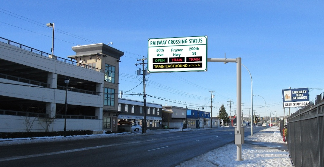 Real-time digital signs to inform Metro Vancouver drivers of railway crossing delays