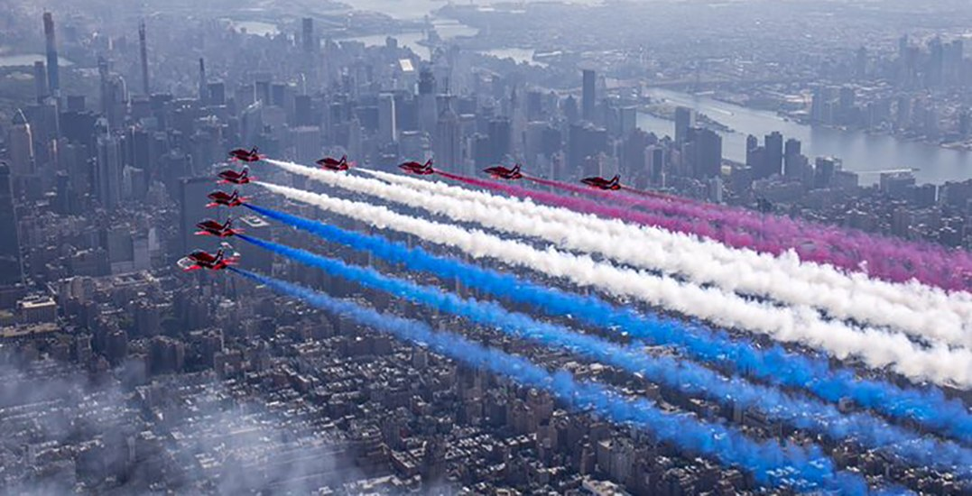 Royal Air Force Team to perform aerobic stunts over Vancouver this month