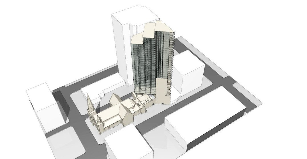 Holy Rosary Cathedral in downtown Vancouver pursuing office tower addition