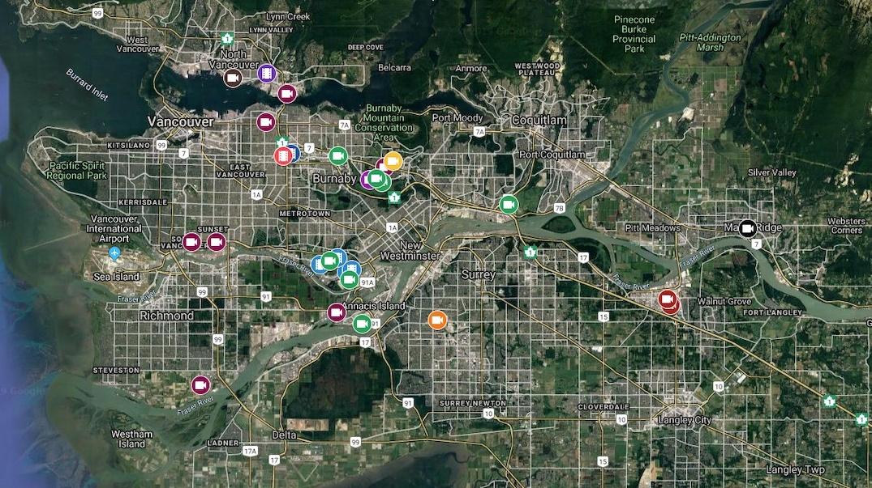 Vancouver film studio map