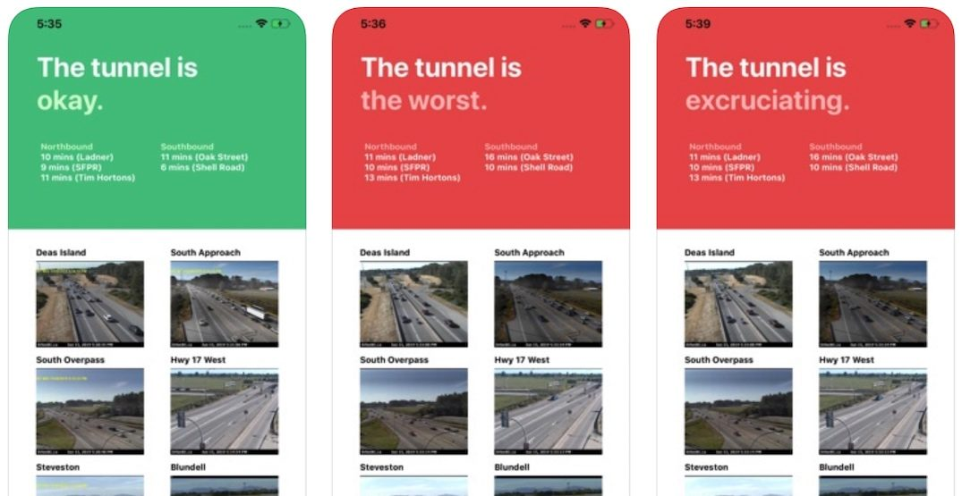 New traffic app lets drivers know whether the Massey Tunnel is congested