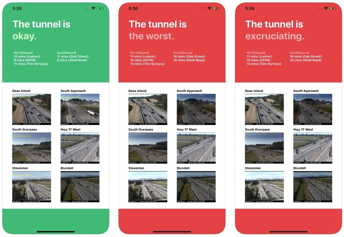 Is The Massey Tunnel Okay app 1