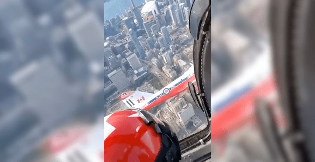 Someone shared a cockpit view of the Snowbirds' practice run (VIDEO)
