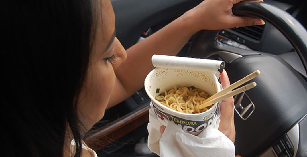 Woman fined for eating with chopsticks while speeding