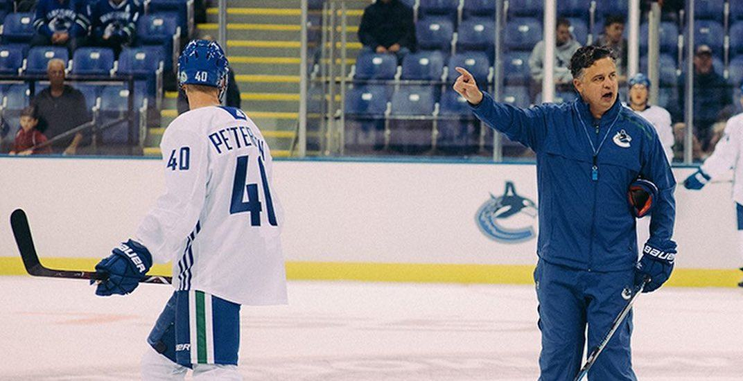 Virtanen gets AHL-treatment from Canucks coach in first training camp practice