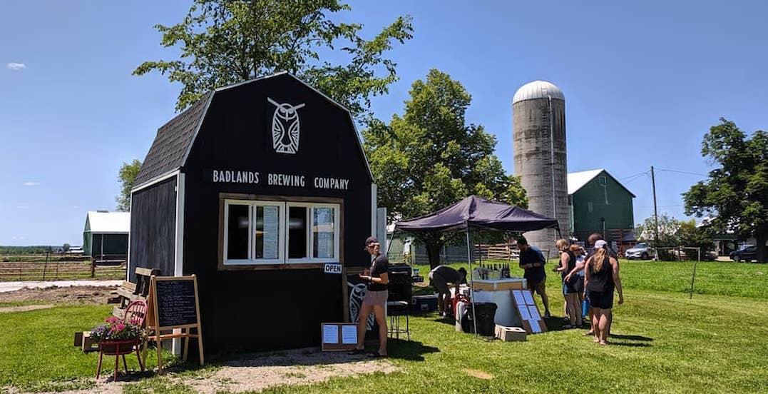 Drink beer from a barn at this brewery near Toronto this fall