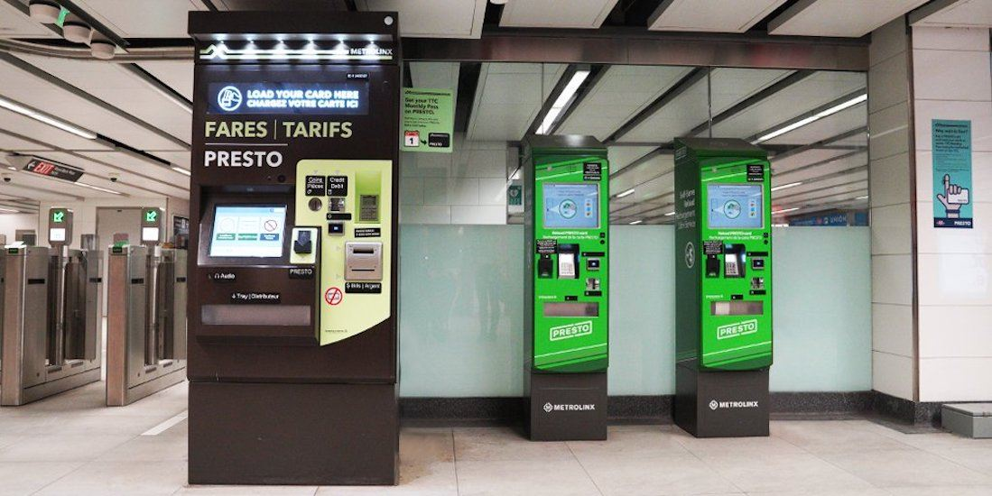 Metrolinx lowers PRESTO minimum loads from $10 to a nickel