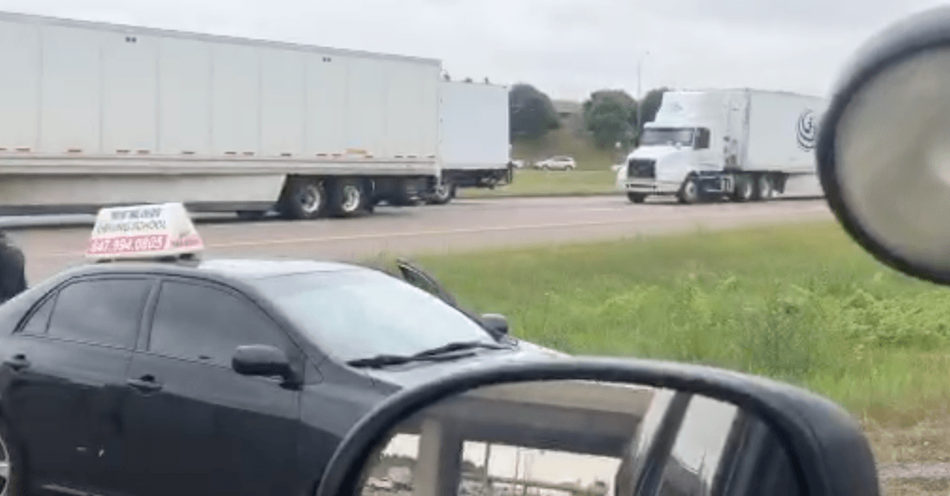 OPP catches driving school vehicle making illegal U-turn on busy GTA highway (VIDEO)
