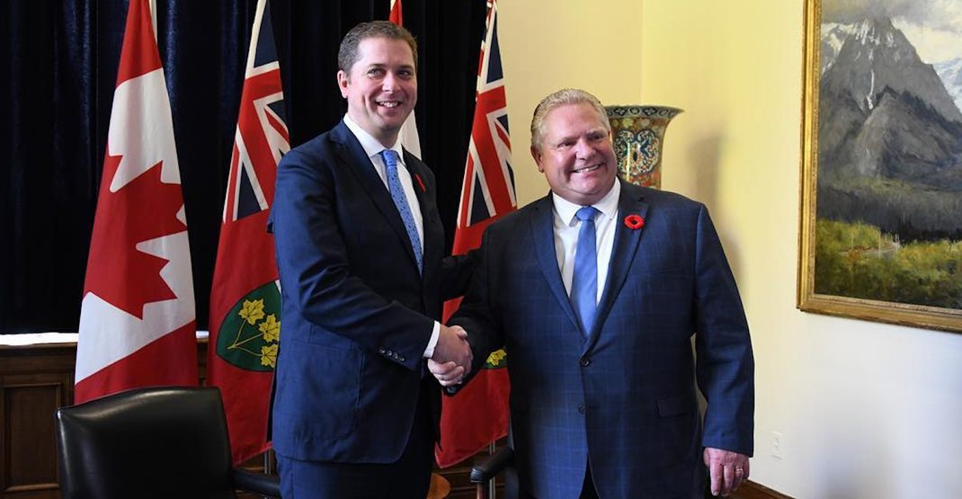 Doug Ford says he's too busy with governing to campaign for Andrew Scheer