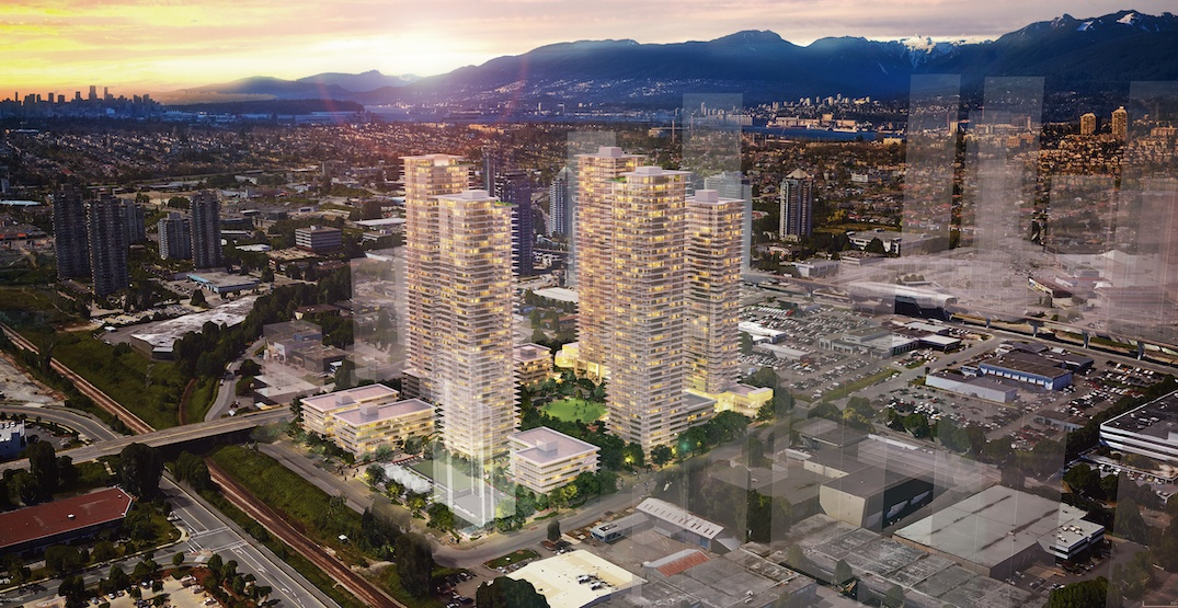 Five towers up to 51 storeys proposed near SkyTrain's Brentwood Station
