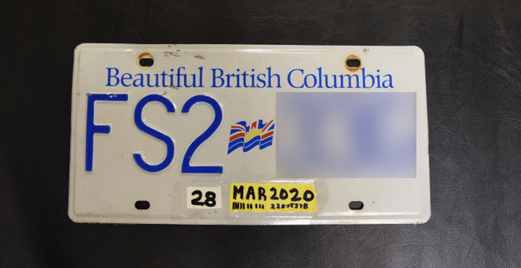 Coquitlam RCMP seize van for very obvious forged licence plate sticker