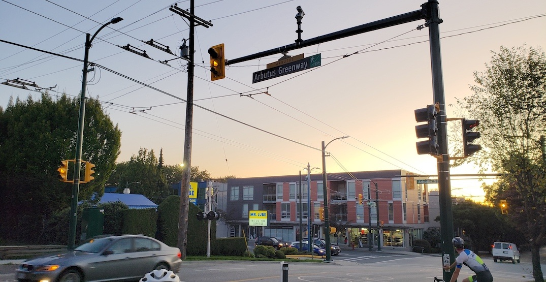 New trolley bus wires installed on West 12th Avenue in Vancouver