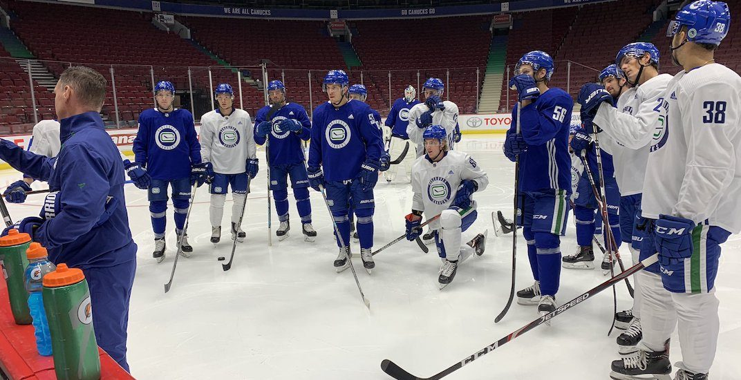 Canucks unveil brand new power play alignments at practice
