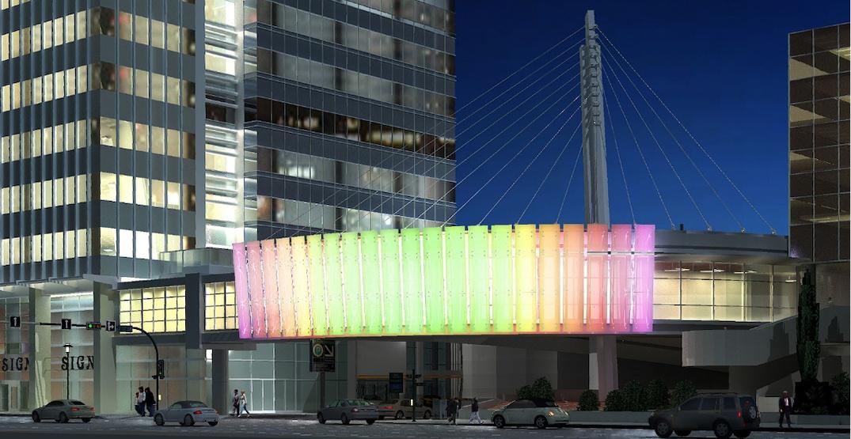 Calgary's new landmark curved Plus-15 walkway bridge opens this week