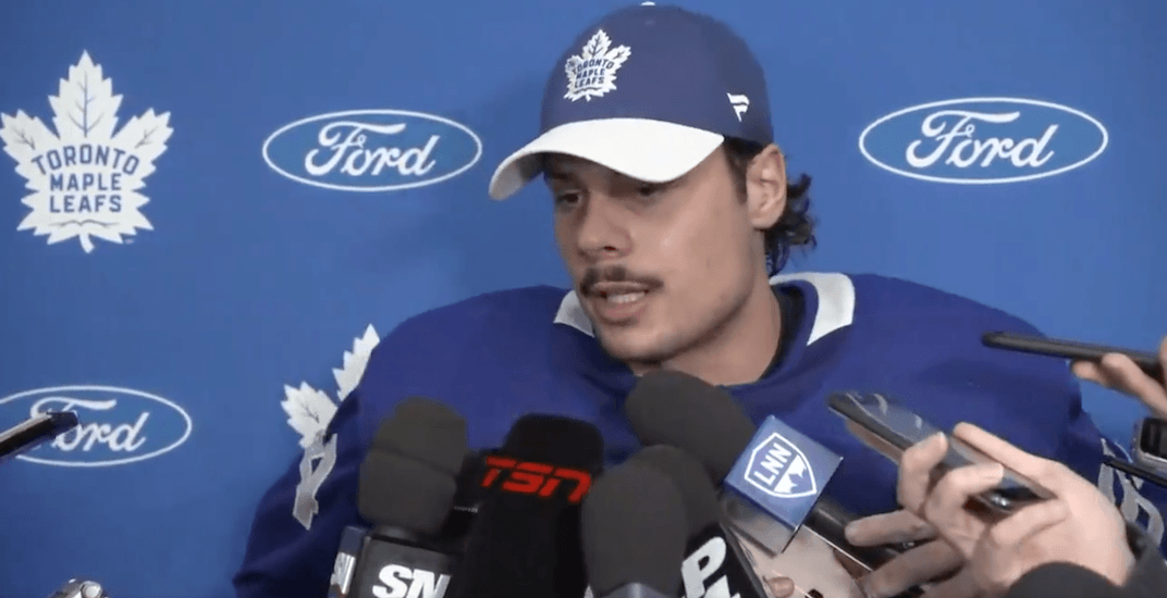 Leafs' Auston Matthews makes first statement about pants-less behaviour in Arizona