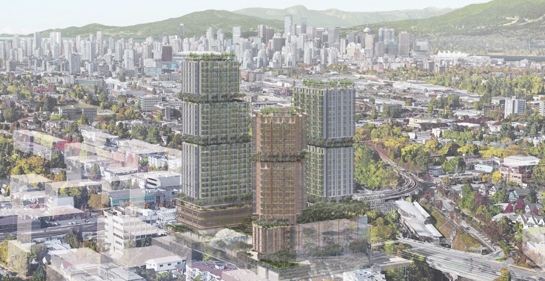 Landmark towers proposed next to Commercial-Broadway Station (RENDERINGS)