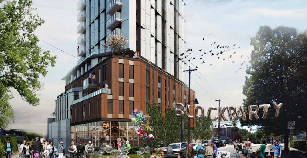 11-storey mass timber social housing building proposed for Kingsway in Vancouver