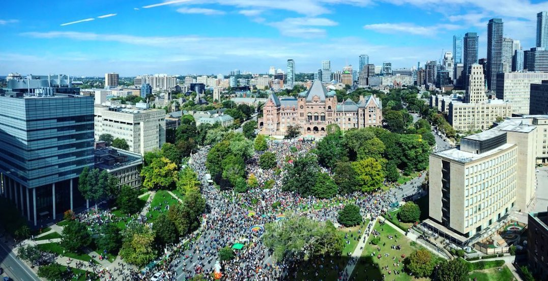 Thousands currently gathered at Queen's Park for Toronto's Climate Strike (PHOTOS)