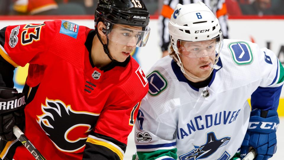 Johnny Gaudreau and Brock Boeser