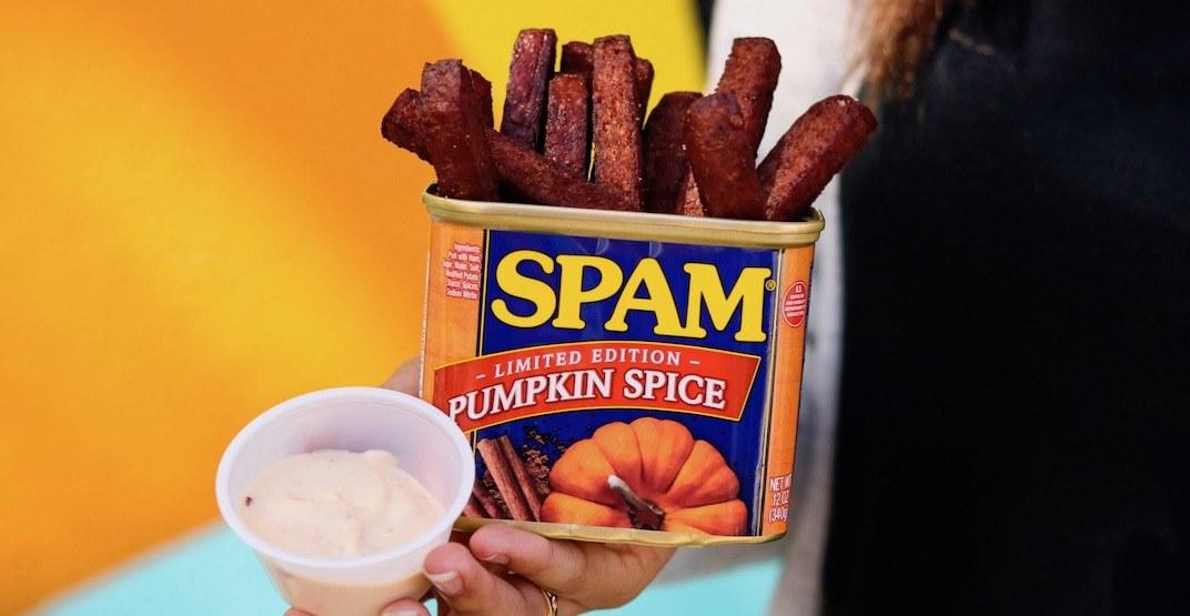 Get Pumpkin Spice Spam Fries in Metro Vancouver tomorrow