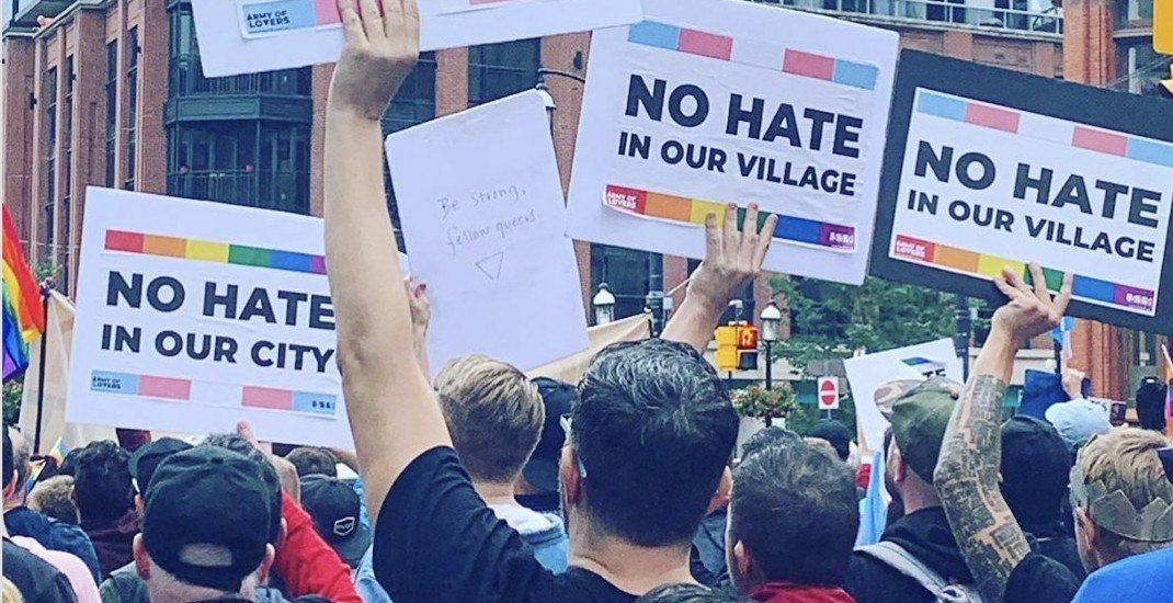 Hundreds rallied to support Toronto's LGBTQ community today (PHOTOS)