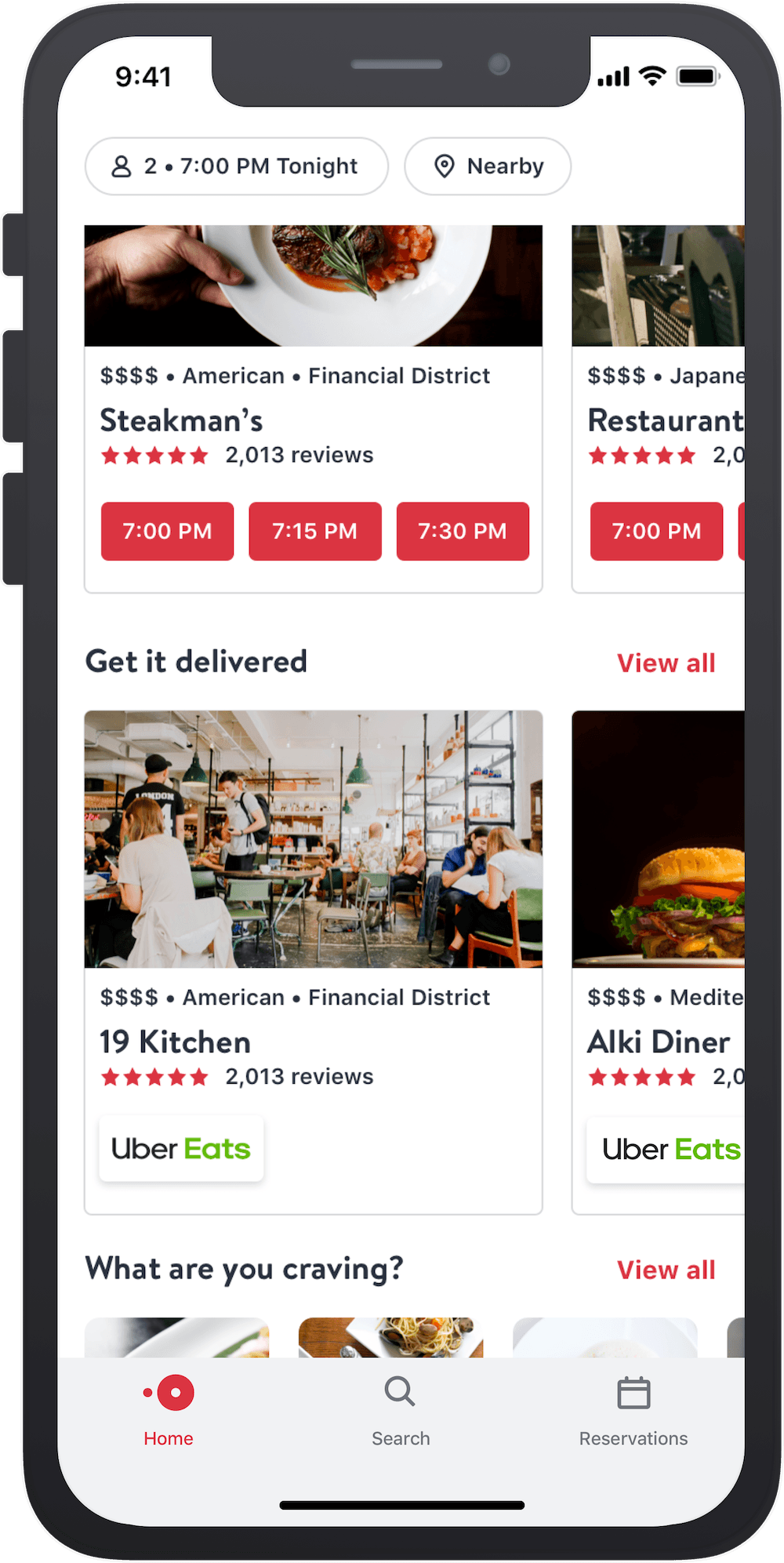 OpenTable Uber Eats Canada launch