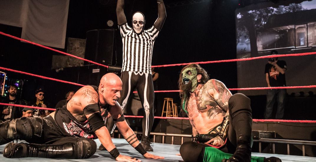 The Rickshaw Theatre is hosting a Halloween wrestling show this week