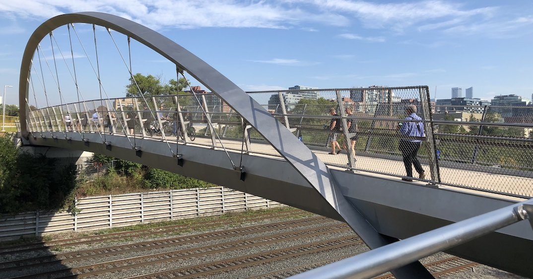 Long-awaited west-end pedestrian and cyclist bridge now open (PHOTOS)