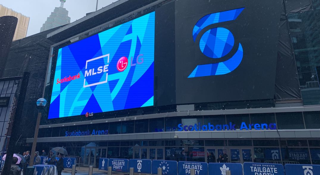 Maple Leaf Square just got a huge new LED screen (PHOTOS)